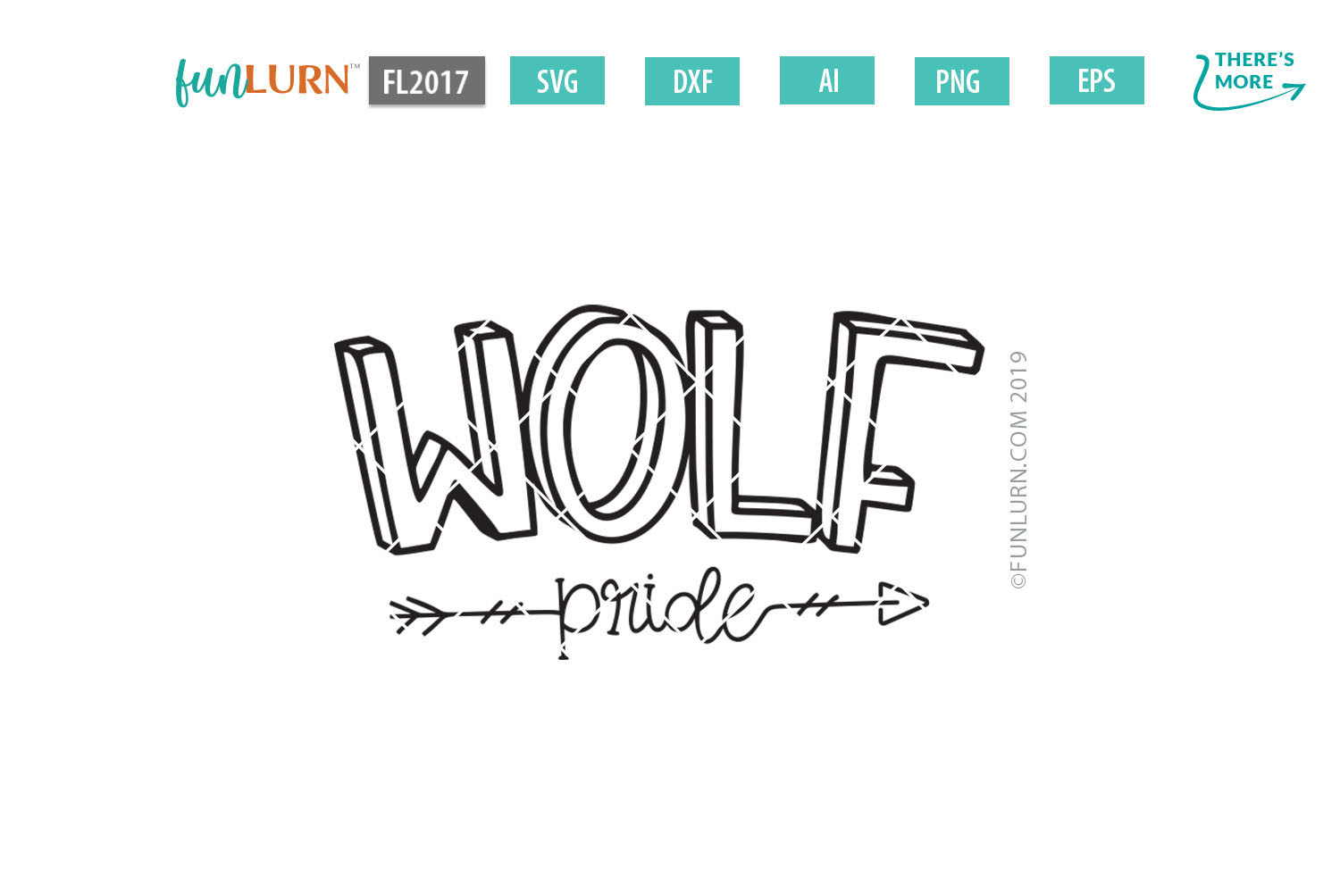 Wolf Pride Team SVG Cut File example image 2