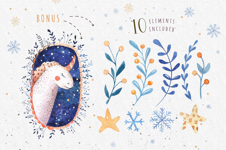 Vector Christmas lettering + bonus example image 7