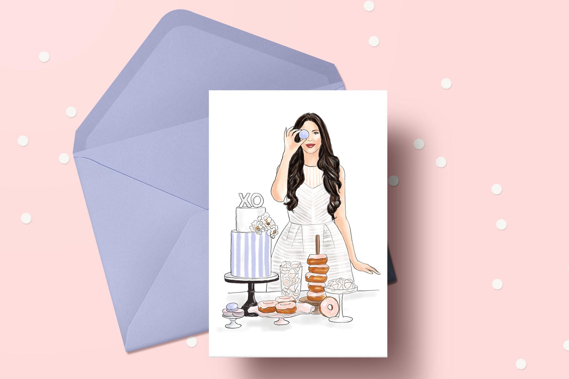Fashion illustration - Baker Girl - Light Skin example image 5