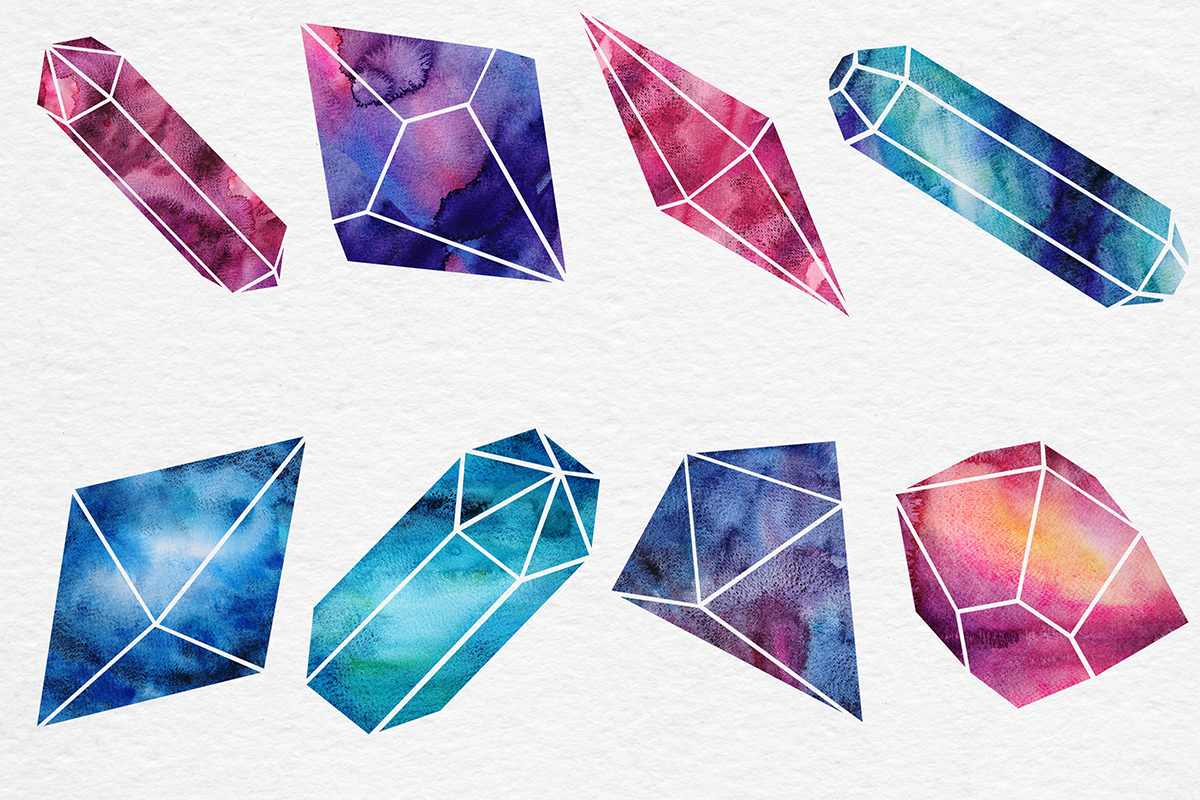 Watercolor Crystals Collection example image 2