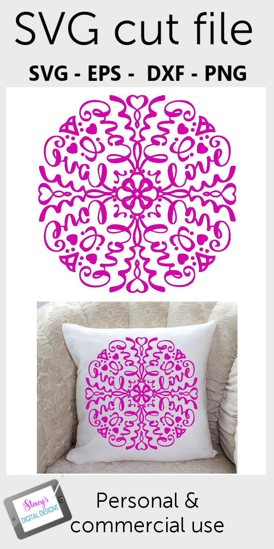 Mandala SVG - Love mandala svg example image 2