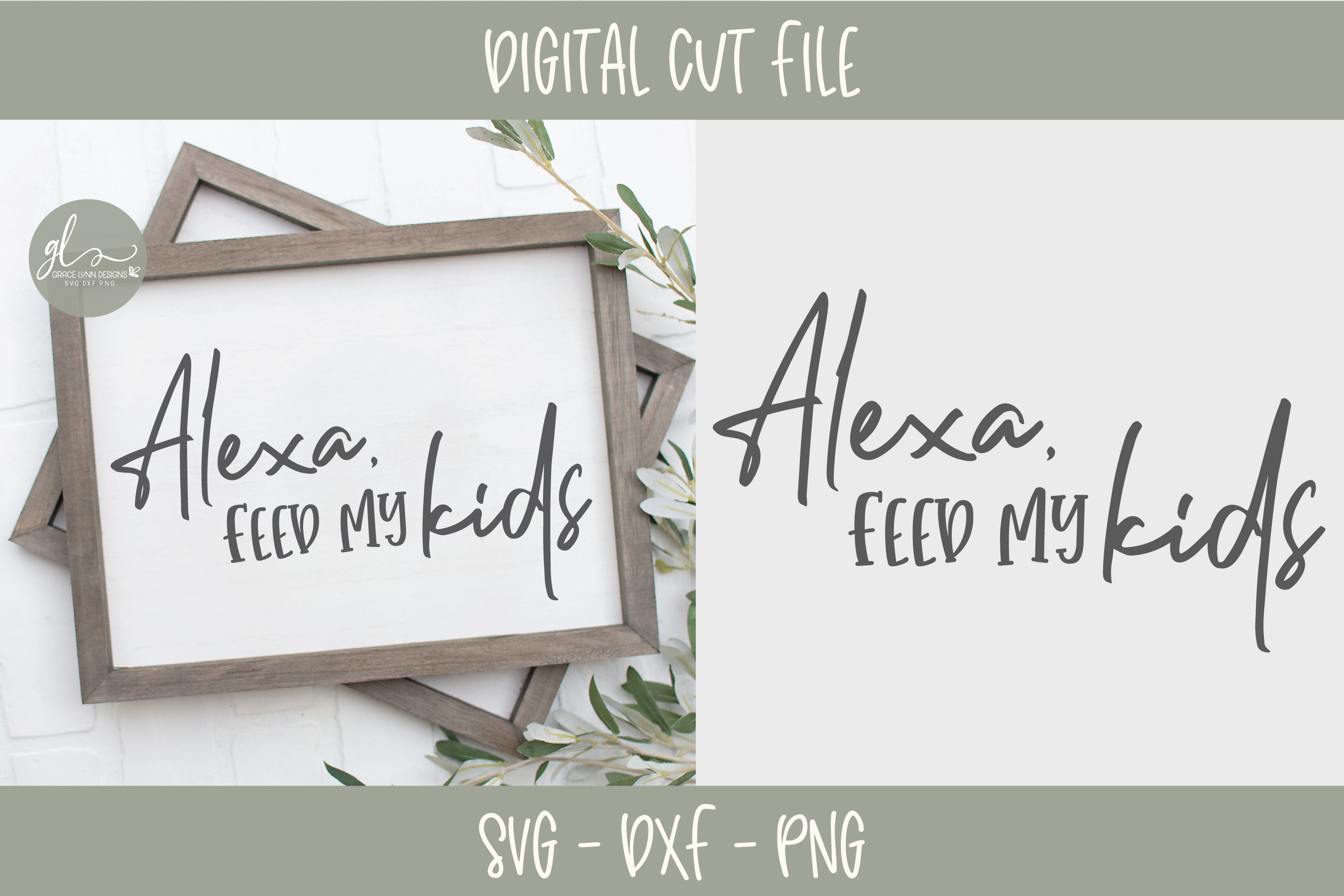 Alexa Feed My Kids - Kitchen SVG Cut File example image 1