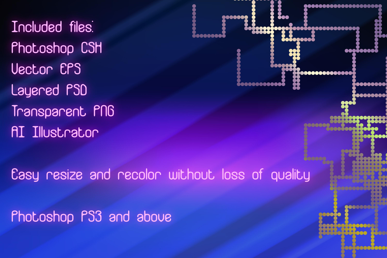 14 Pixel Track Hi-Tech Plexus Vector Photoshop Shapes example image 2