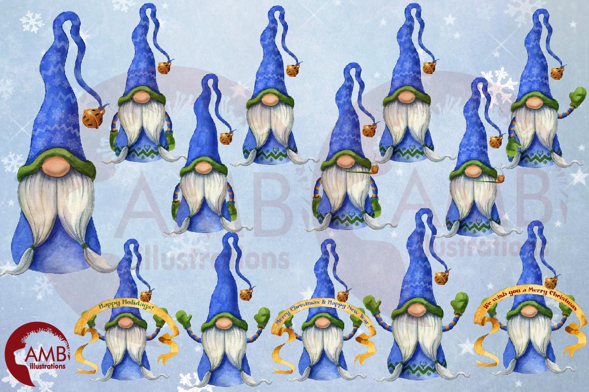 Christmas Gnomes, Scandinavian Gnomes, Watercolour Gnomes, example image 8