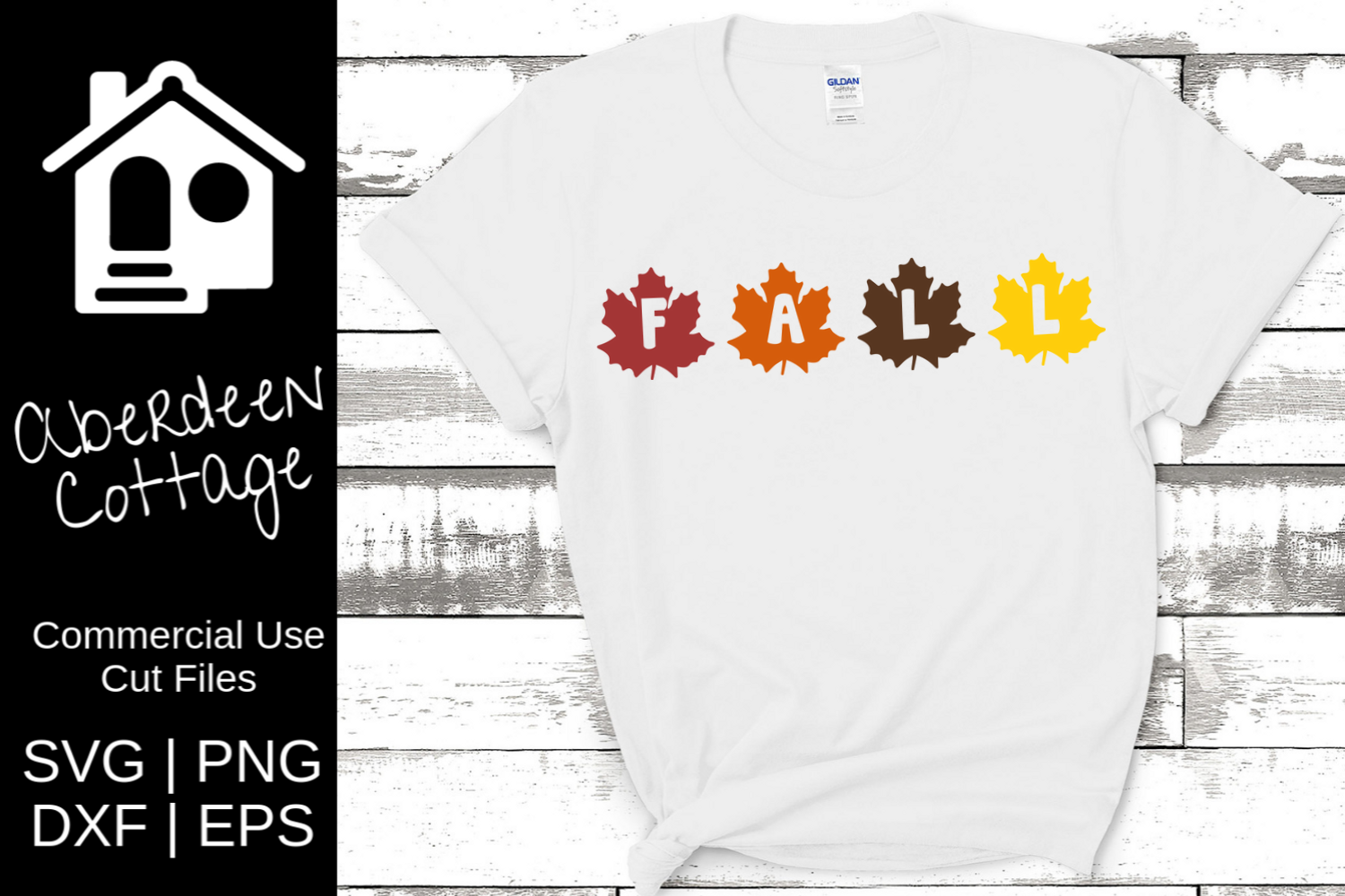 Fall Leaves Cut Out SVG Design example image 1
