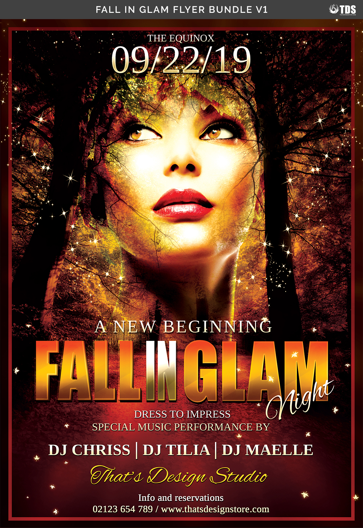 Fall in Glam Flyer Bundle V1 example image 10