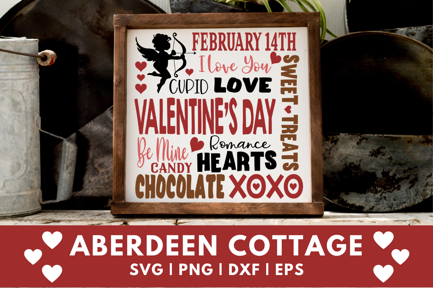 Valentines Day Expressions SVG | PNG | EPS | DXF example image 1