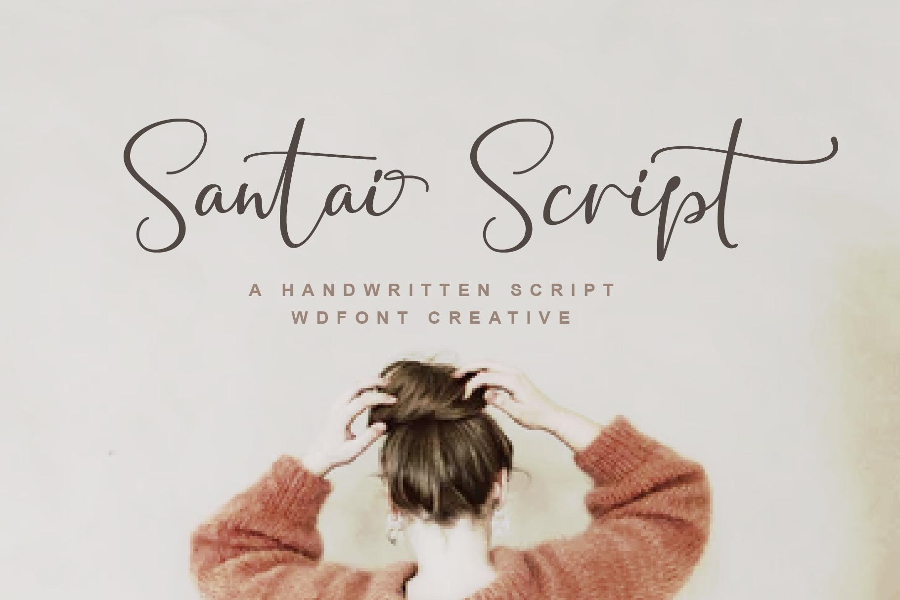Santai Script | A Hanwritten example image 1