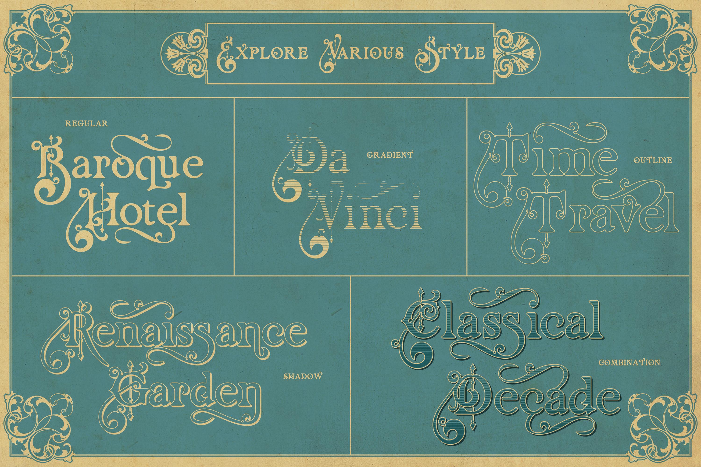 Renaissance Garden - Layered font example image 2