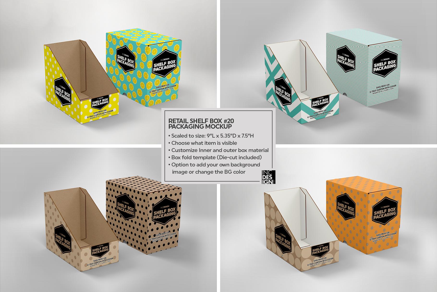 Retail Shelf Box 20 Packaging Mockup example image 4