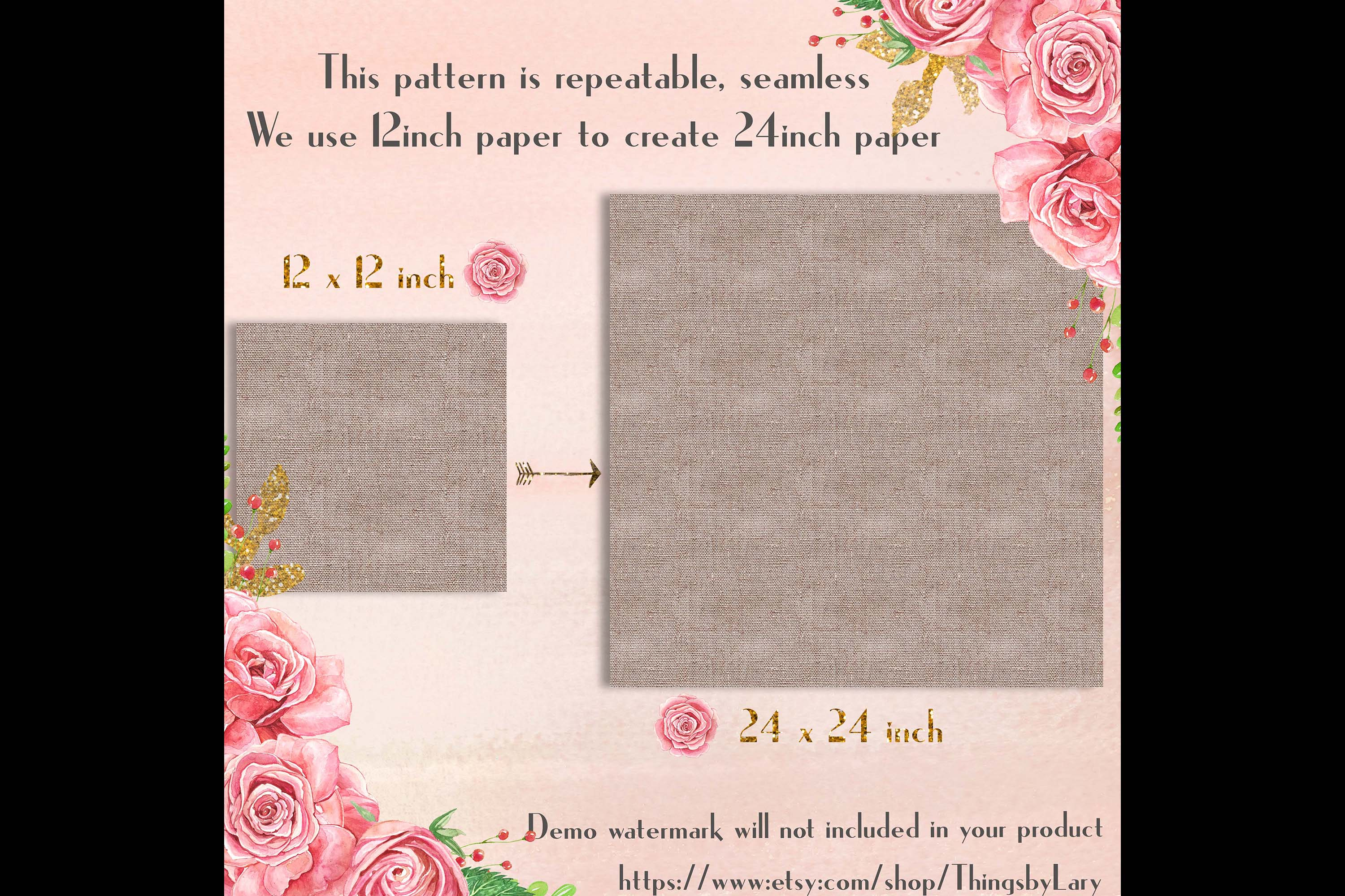 100 Seamless Realistic Burlap Texture Shabby Digital Papers example image 8