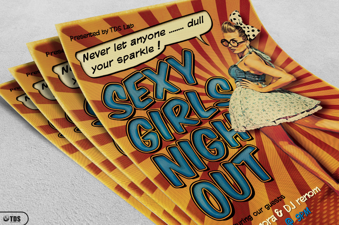 Ladies Night Flyer Template V3 example image 3