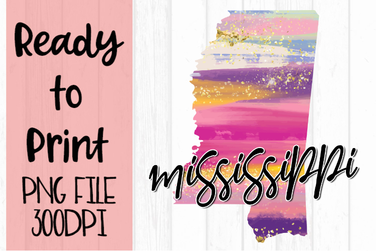 Mississippi Painted States Ready to Print example image 1