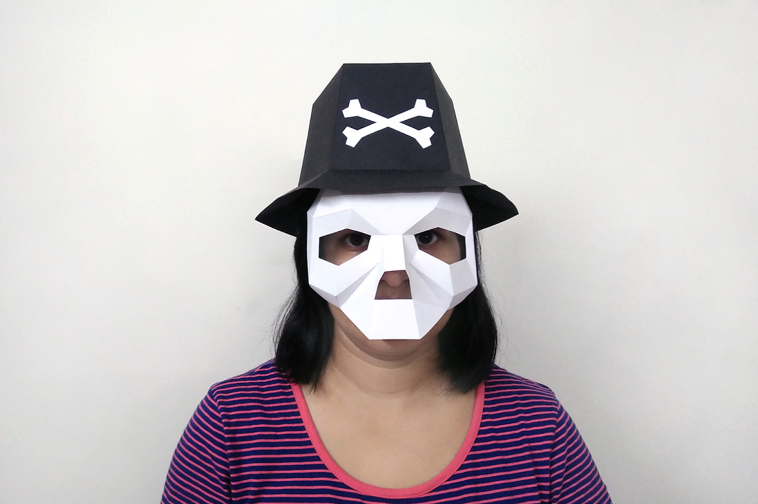 DIY Skull Hat - 3d papercrafts example image 2