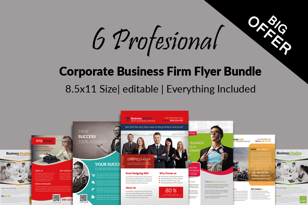 6 Creative Business Flyers Bundle example image 1