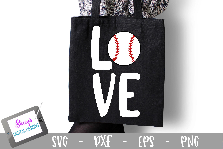 Baseball SVG File - Love with baseball - square example image 1