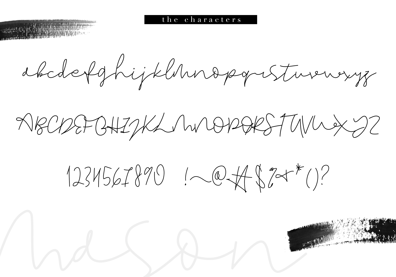 Mason - A Handwritten Signature Font example image 8