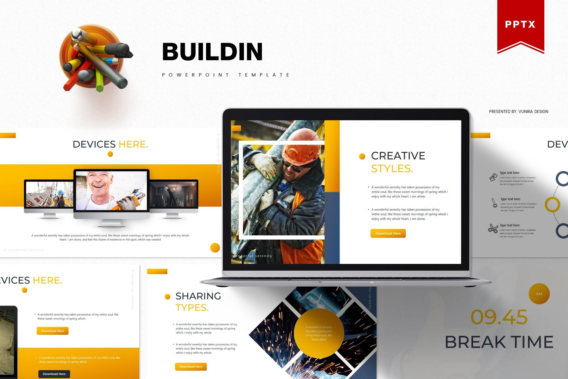 Buildin | Powerpoint, Keynote, GoogleSlides Template example image 1