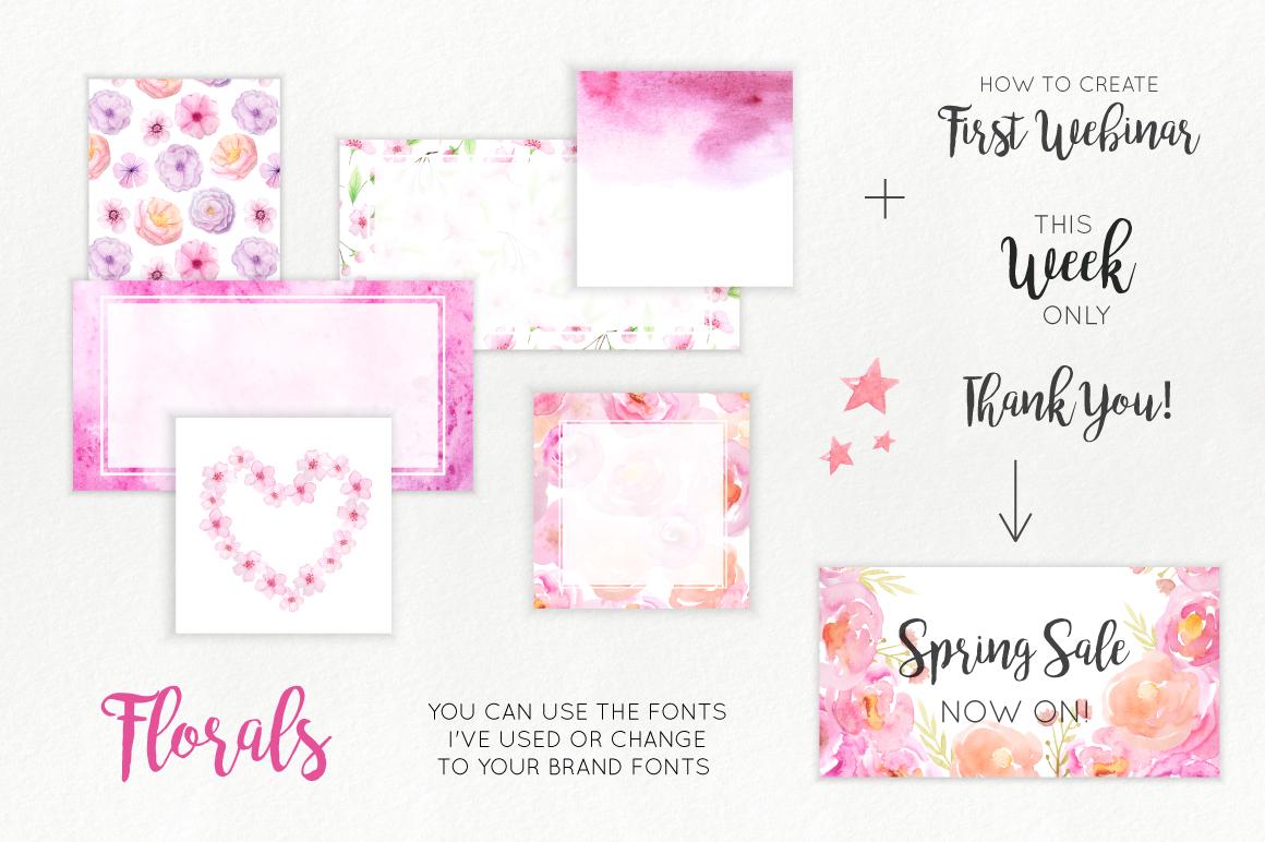Florals Social Media Graphics example image 6