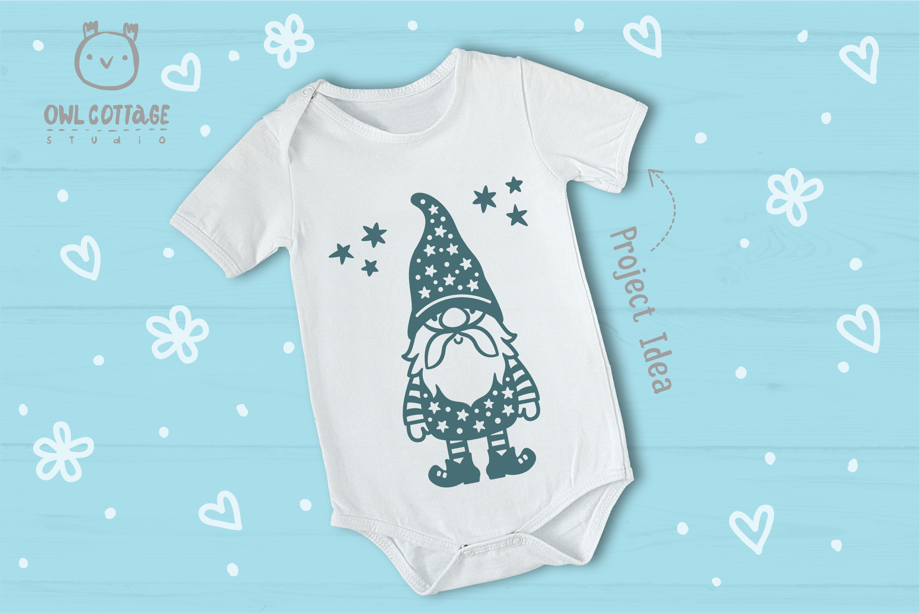 Scandinavian Gnomes SVG, Gnome Clipart, Tomte example image 12