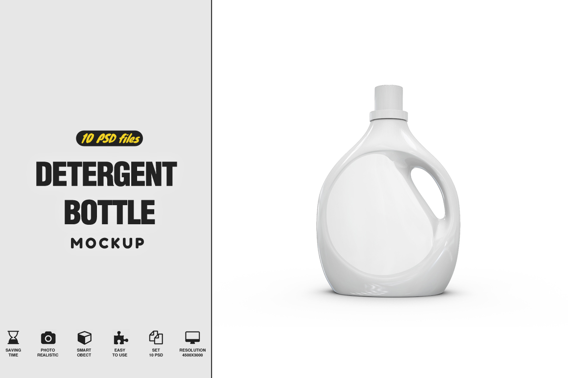 Detergent Bottle Mockup example image 1