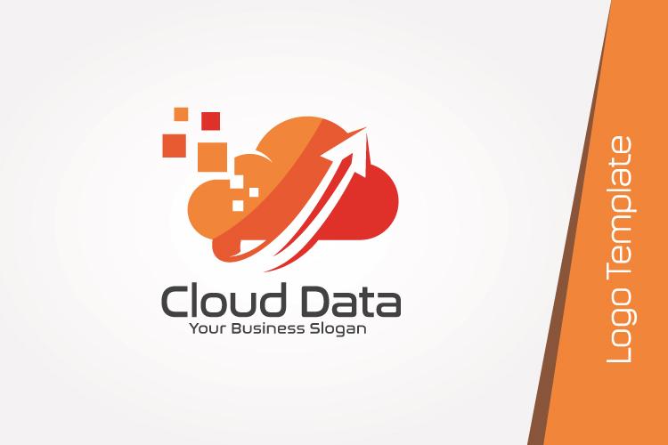 Cloud Data Logo Template example image 3