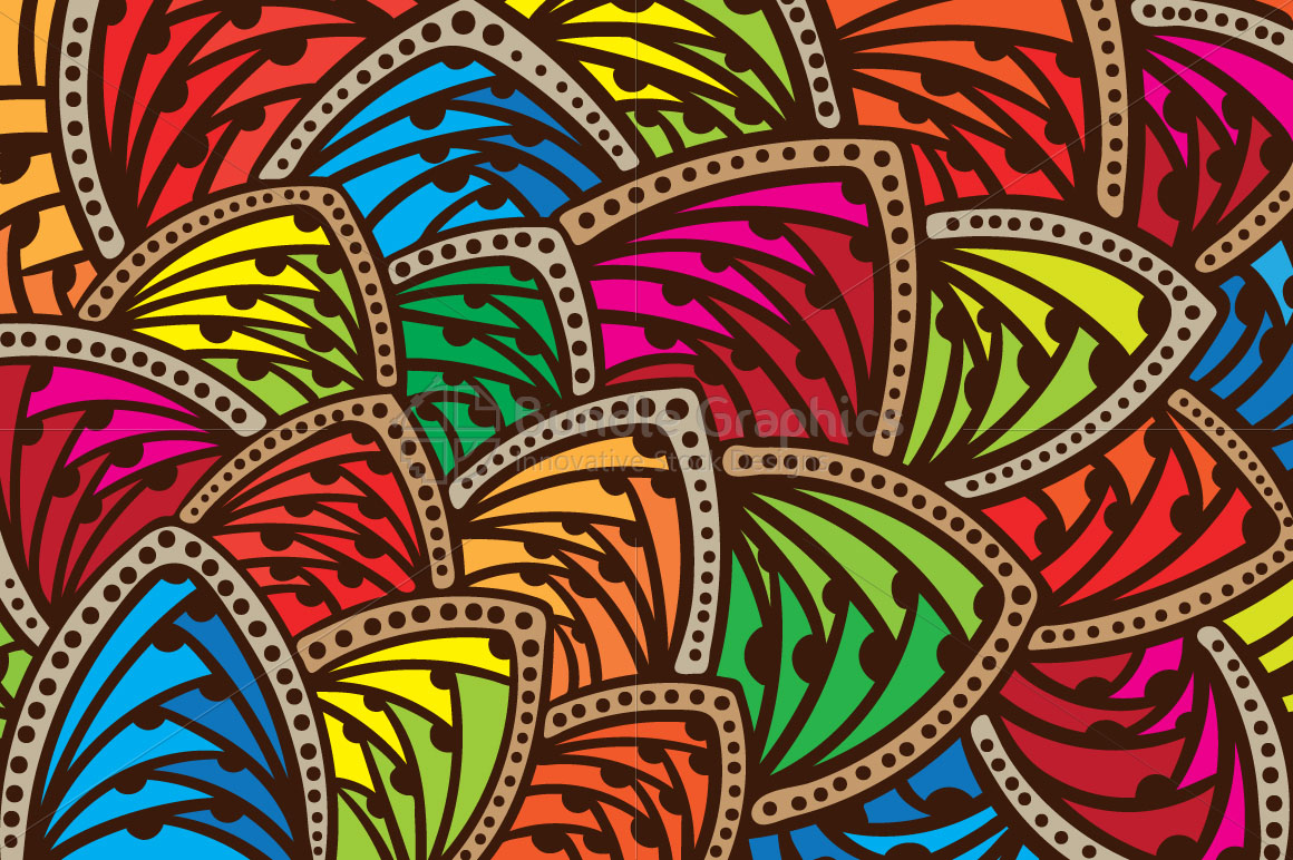 Abstract Freehand Colorful Background example image 1