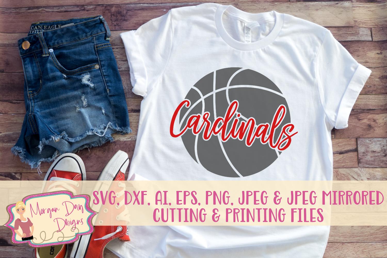 Cardinals Basketball SVG, DXF, AI, EPS, PNG, JPEG example image 1