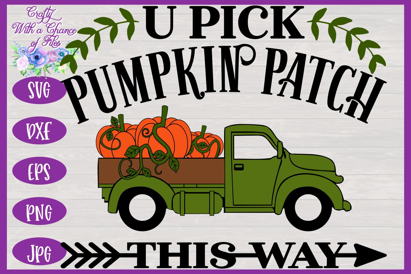 U Pick Pumpkins SVG | Fall Truck SVG | Pumpkin Patch SVG example image 3