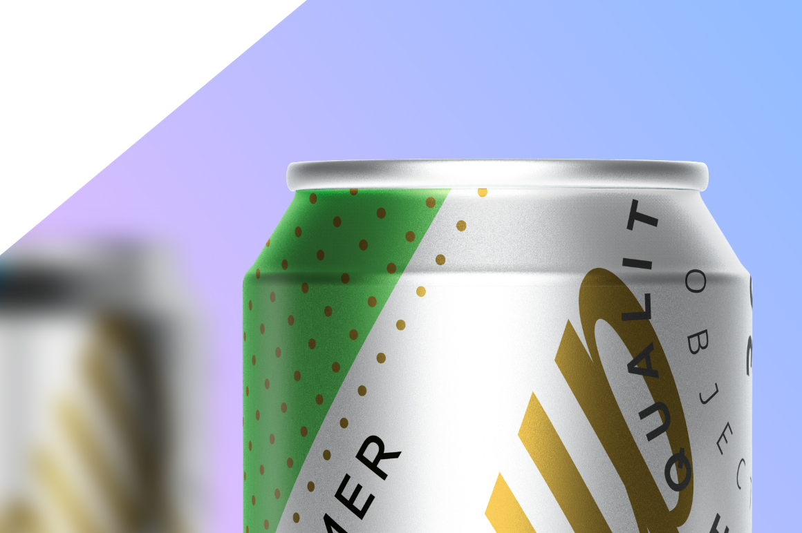 330ml Aluminum Can Poster Mockup example image 2