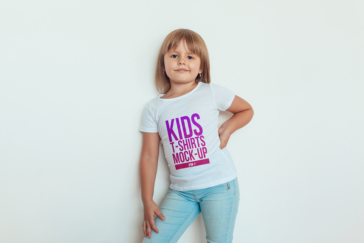 Kids T-Shirt Mock-Up Vol 5 example image 16