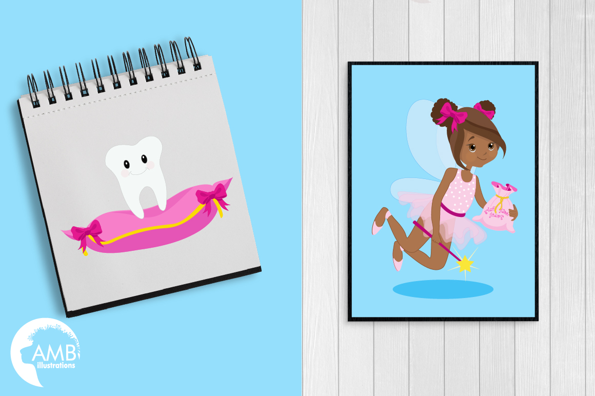Fairy girls, Toothfairy girls clipart, graphics and illustrations AMB-1134 example image 5