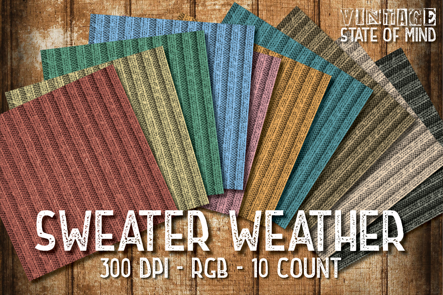 Sweater Weather Digital Papers example image 2
