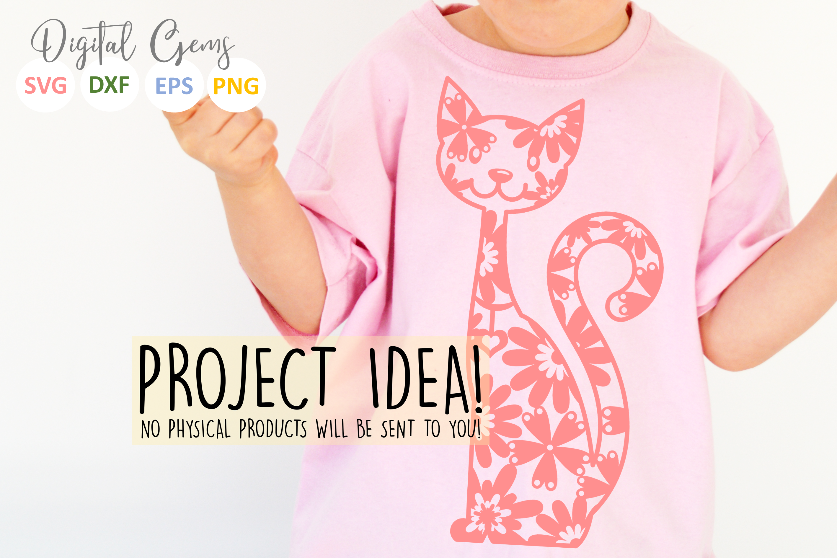 Cat paper cut SVG / DXF / EPS files example image 5