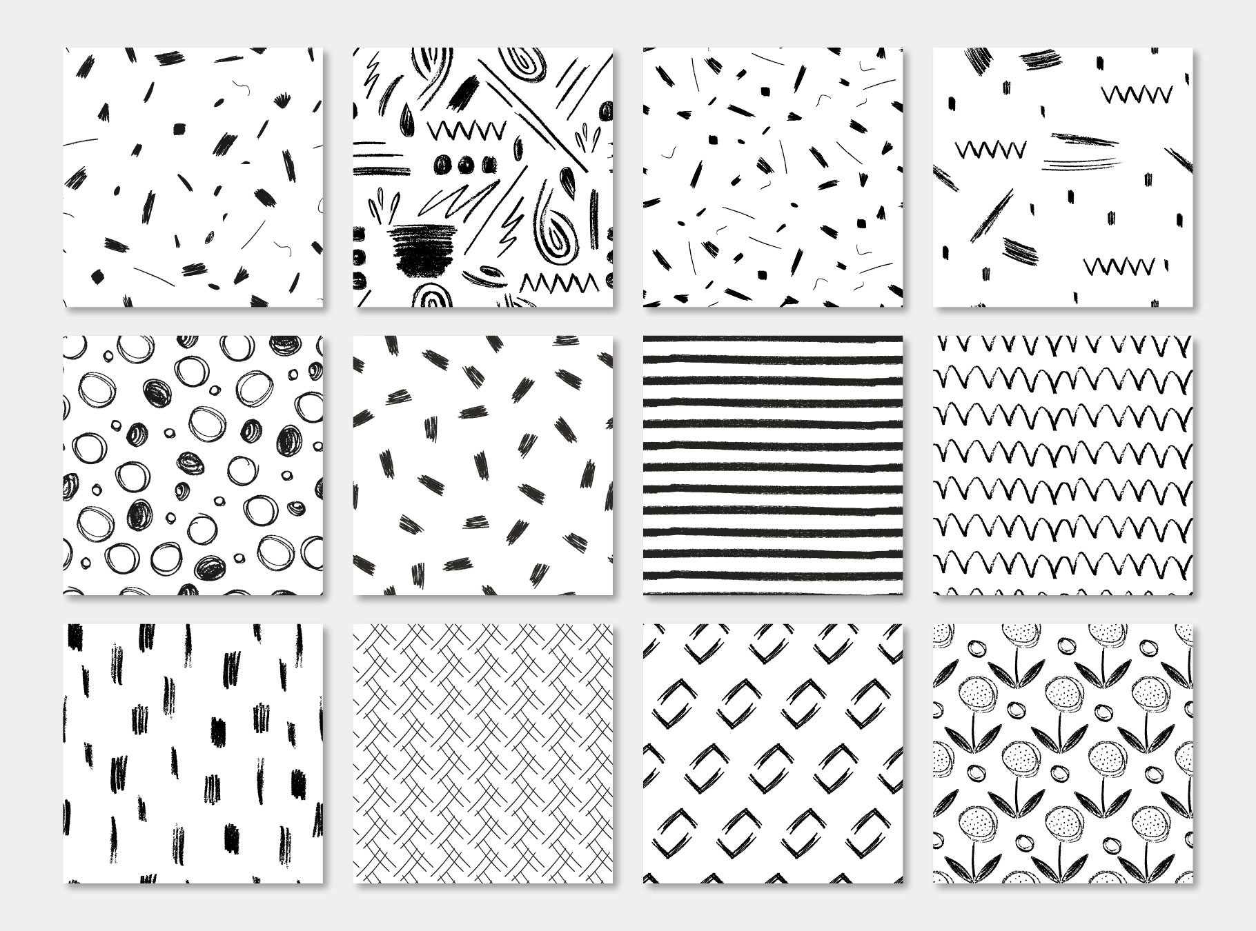 Pensil Confetti Patterns & Elements example image 12