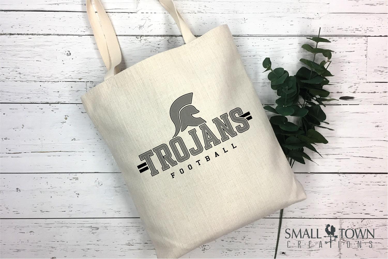 Trojan Football, Team, Sports, Logo, PRINT, CUT & DESIGN example image 3