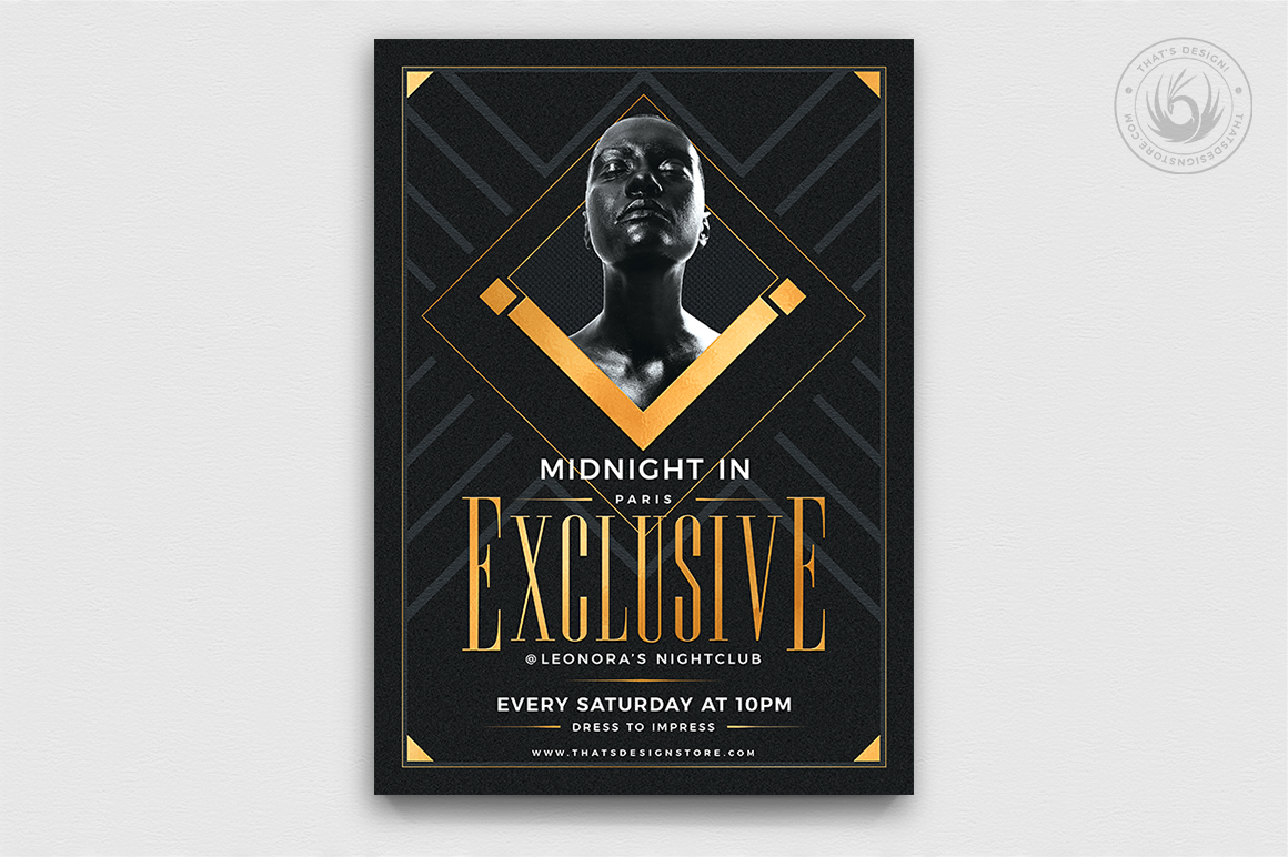 Exclusive Party Flyer Template example image 1