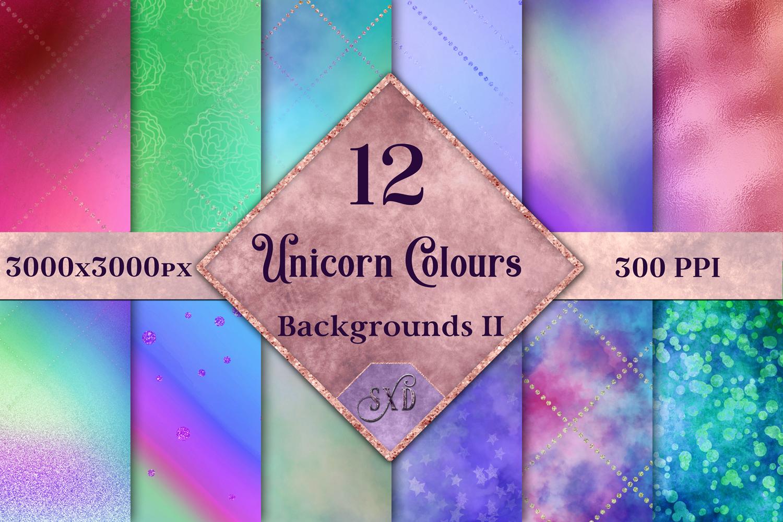 Unicorn Colours Backgrounds II - 12 Image Set example image 1