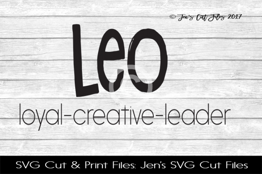 Leo Zodiac SVG Cut file example image 1