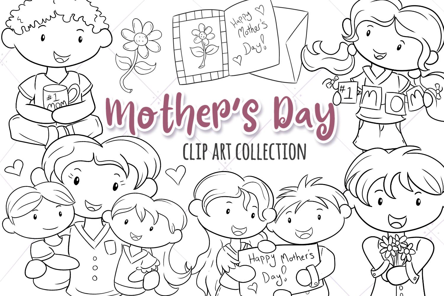 Mother's Day Digital Stamps example image 1