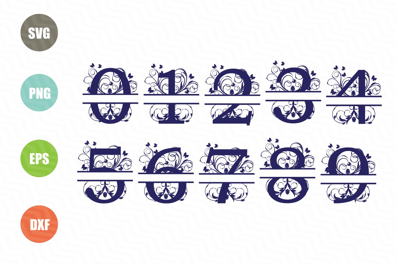 Split Letters A-Z SVG, Split Numbers 0-9 SVG example image 5