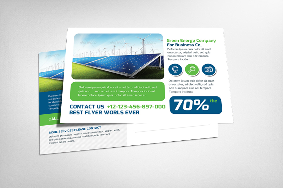 Green Energy Postcard example image 1