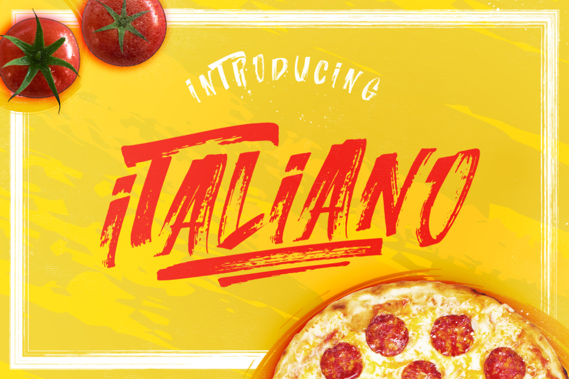 ITALIANO Brush Font +Extras example image 7