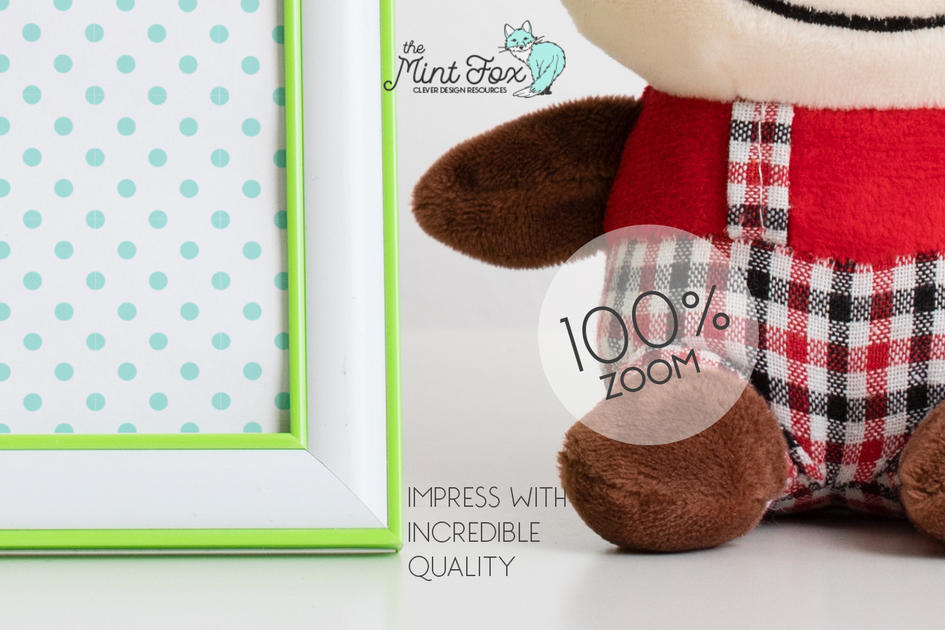 Children Photo Frame Mockup with Toys| Nursery Mock Up example image 3