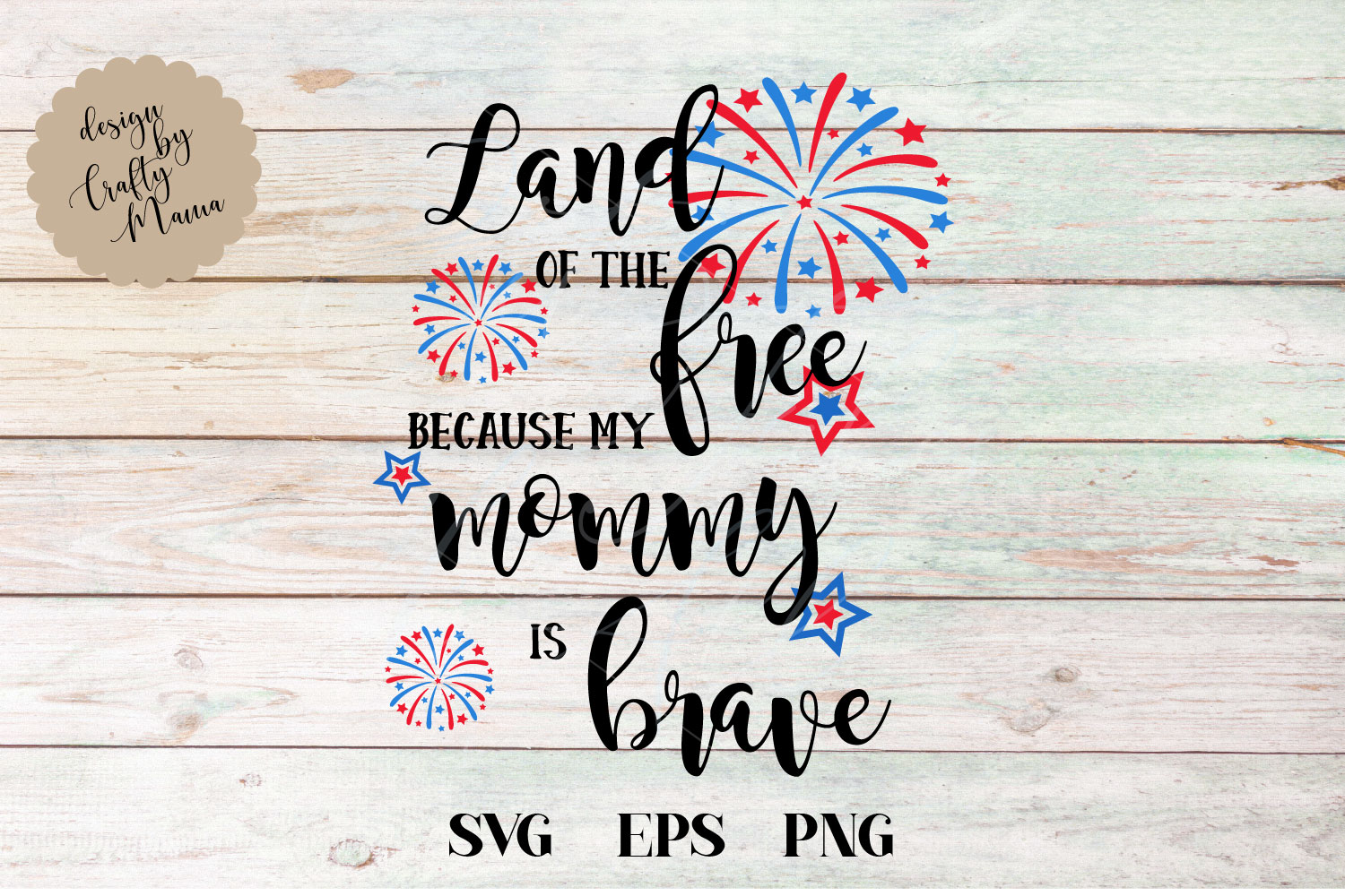 Land Of The Free Because Of The Brave SVG, Mommy Is Brave example image 2