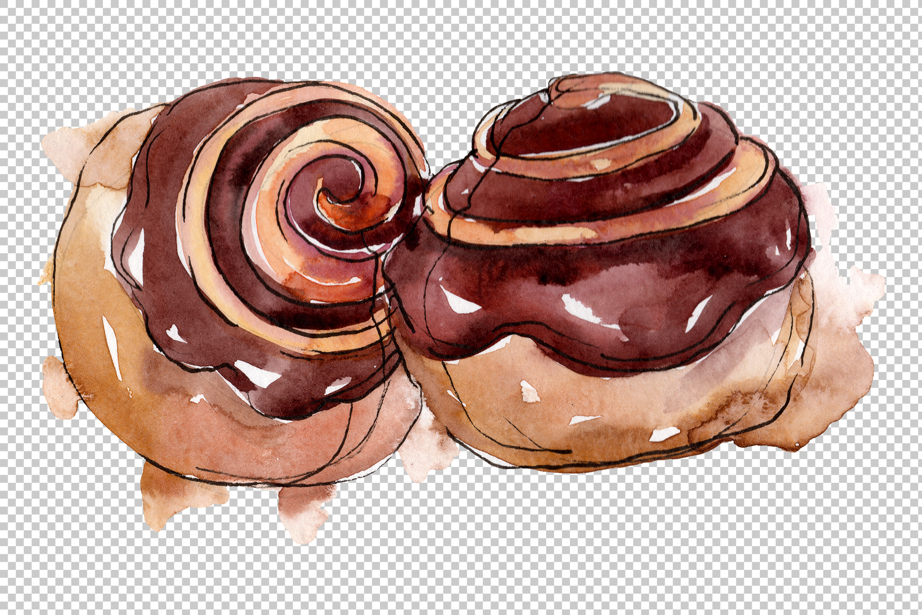 Dessert Appetizing Watercolor png example image 3