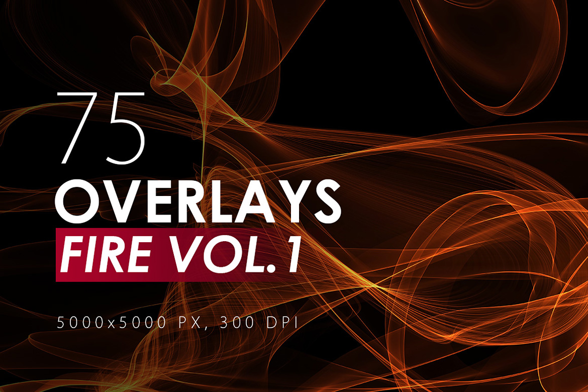 75 Abstract Fire Overlays Vol. 1 example image 1
