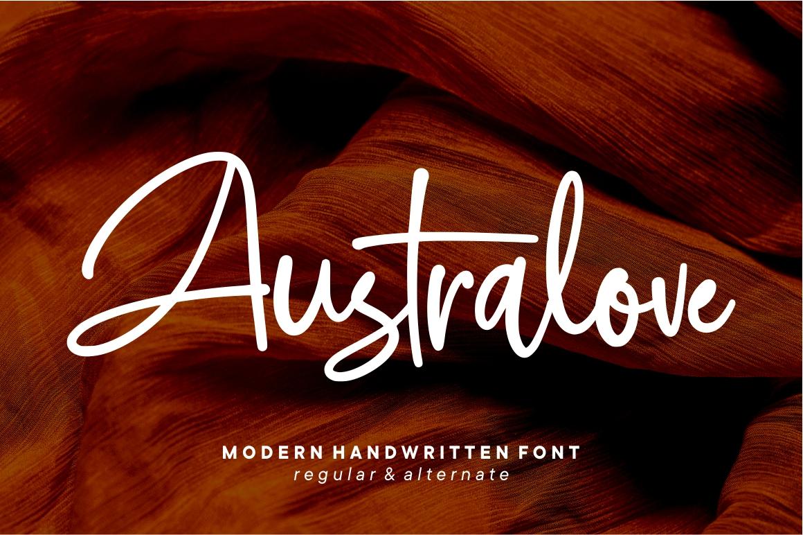 Australove - Modern Handwritten example image 2