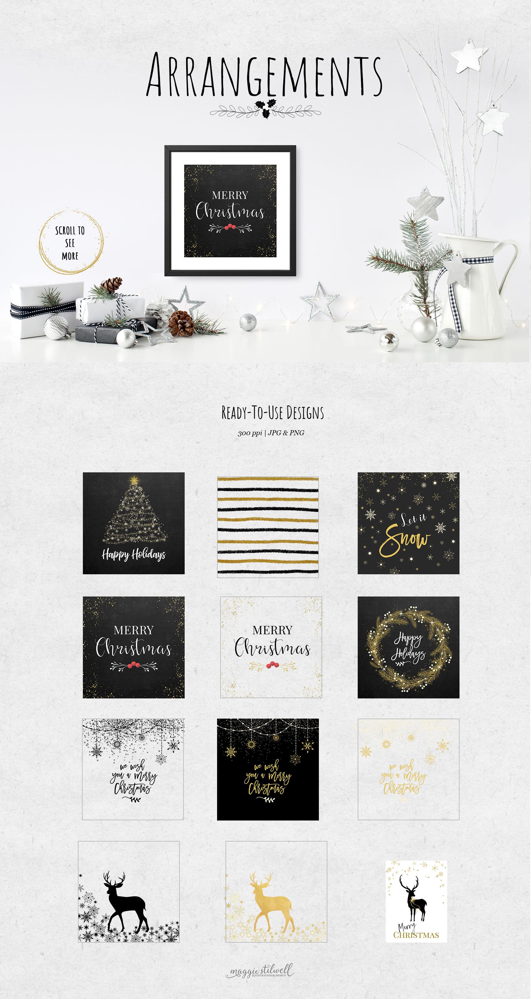 Black & Gold Christmas example image 4