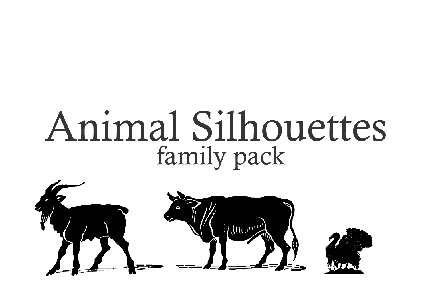 Animal Silhouettes (pack) example image 3